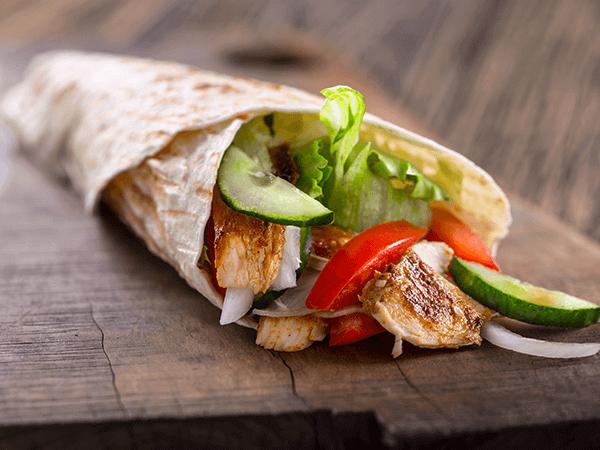 Smaczny kebab w mieście